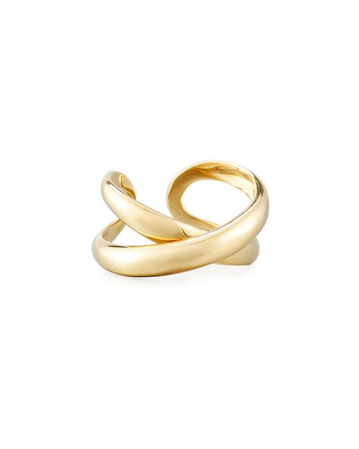 Roberto Coin - Metallic 18k Crossover X Ring - Lyst
