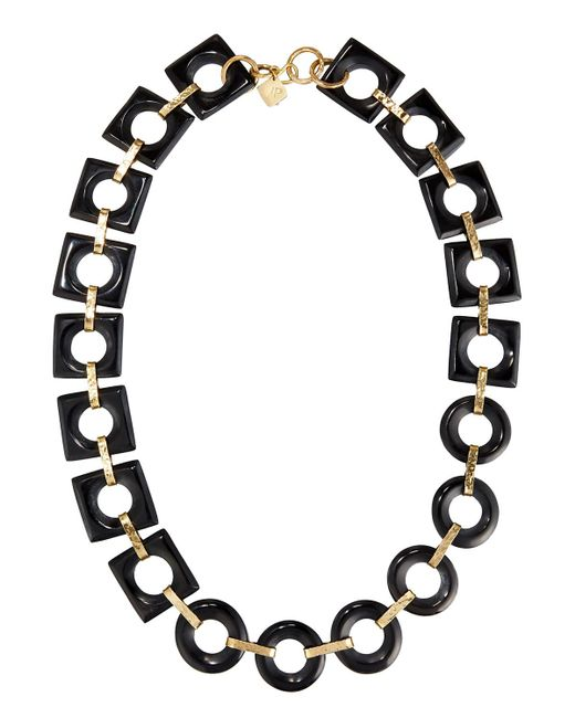 Ashley Pittman | Brown Mbele Geometric Dark Horn Link Necklace | Lyst