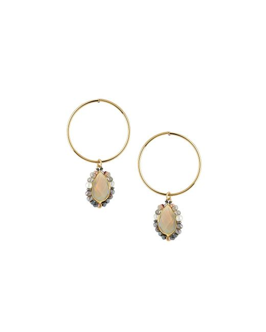Nakamol - Metallic Hoop & Stone Teardrop Earrings - Lyst