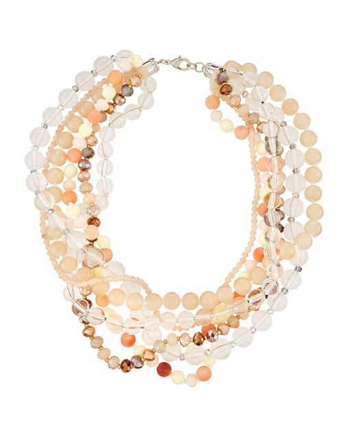 Fragments - Multicolor Lucite® Twisted Statement Necklace for Men - Lyst