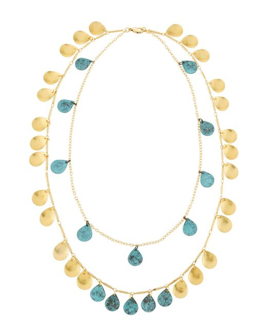 Panacea - Blue Double-strand Patina Necklace - Lyst