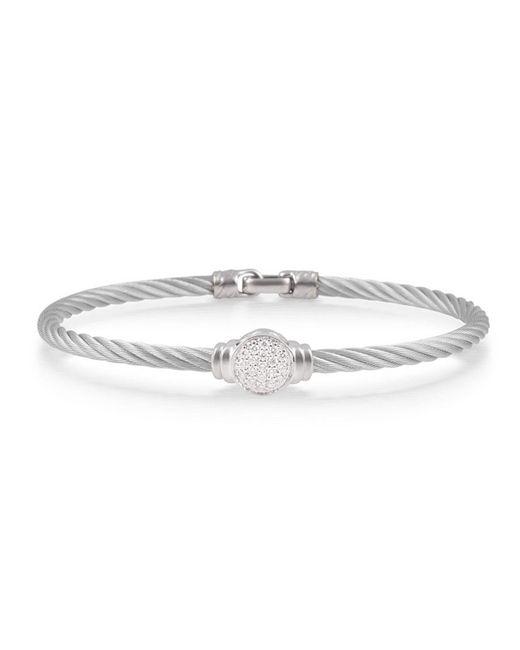 Alor - Metallic Noir Diamond, Stainless Steel And 18k Gold Bracelet - Lyst