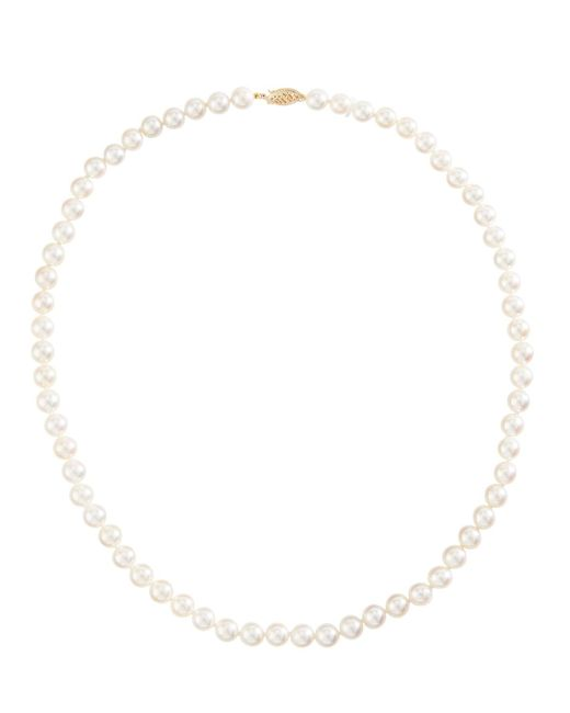Belpearl - 14k White Akoya Pearl Necklace - Lyst