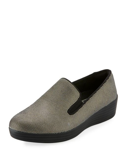 Fitflop - Black Houndstooth Super Skate Sneakers - Lyst