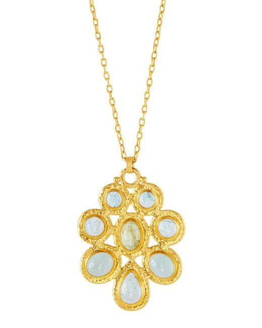 Gurhan - Blue One-of-a-kind 24k Cluster Pendant Necklace - Lyst