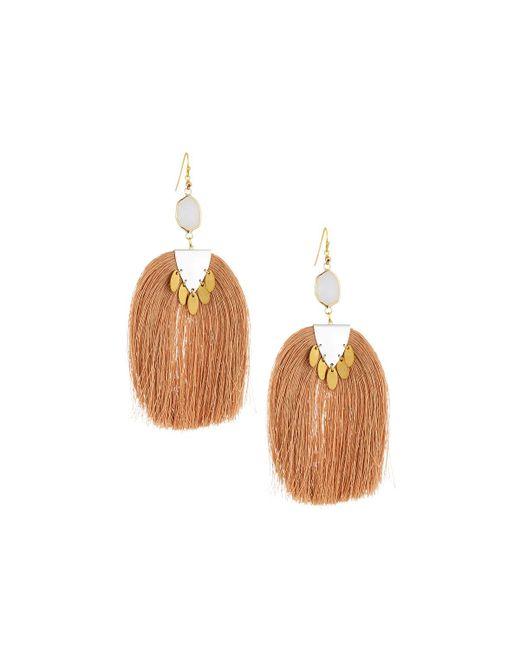 Nakamol - Multicolor Moonstone & Tassel Drop Earrings - Lyst