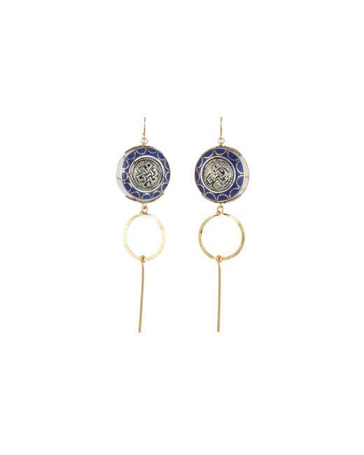 Devon Leigh - Blue Lapis Shell & Dangle Earrings - Lyst