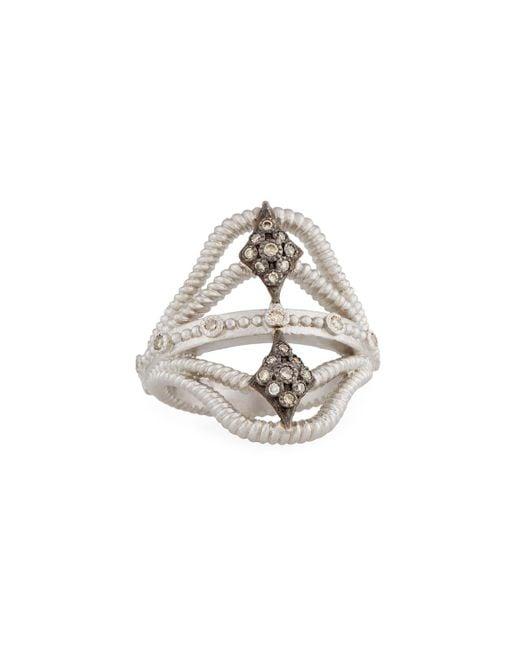 Armenta - Metallic New World Twisted Ring W/ Champagne Diamonds Size 7 - Lyst
