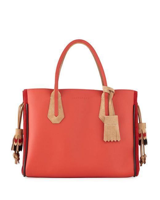 Longchamp - Red Penelope Massai Medium Tote Bag - Lyst