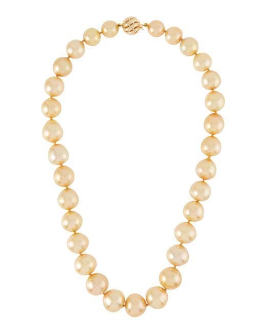 Belpearl - Metallic 14k Golden South Sea Pearl Necklace - Lyst