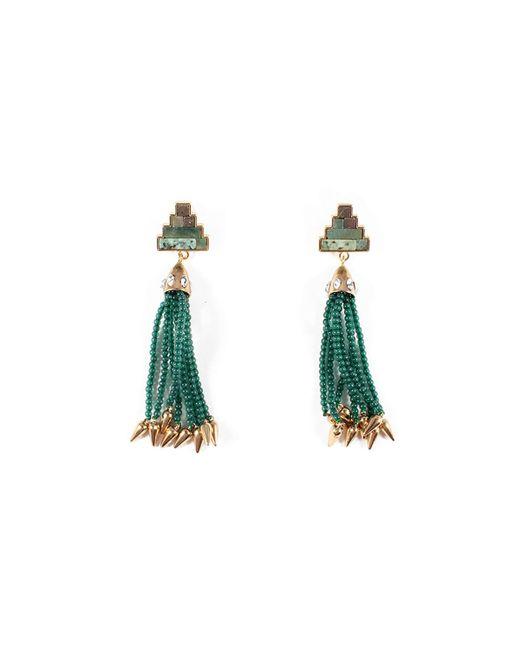 Lulu Frost - Ortigia Tassel Drop Earrings Green - Lyst