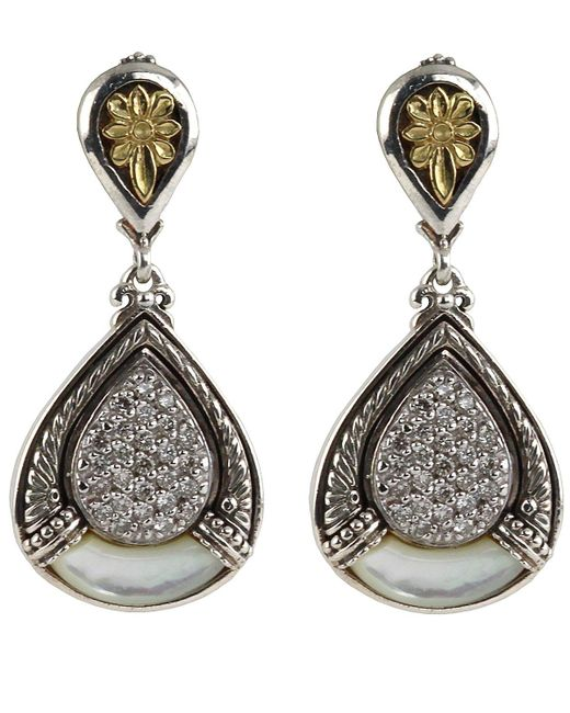 Konstantino - Multicolor Asteri Pave White Diamond & Mother-of-pearl Double-drop Earrings - Lyst
