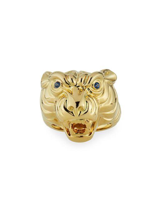 Sydney Evan - Metallic 14k Tiger Ring W/ Sapphires Size 7 - Lyst