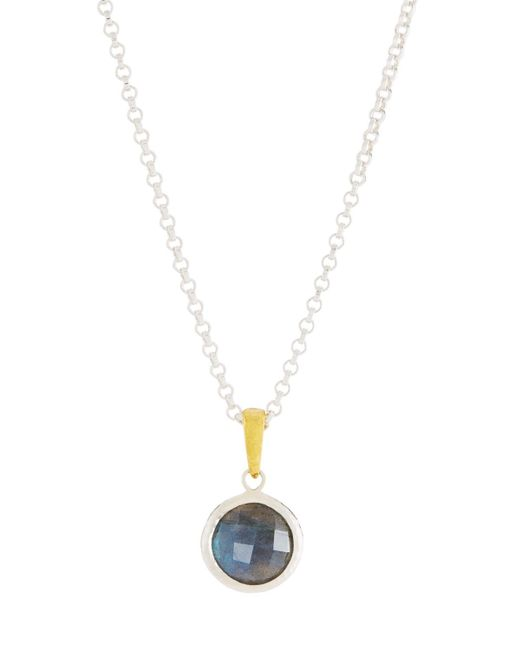 Gurhan - Gray Galapagos Round Single Stone Pendant Necklace In Labradorite - Lyst