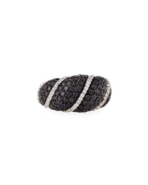 Roberto Coin | 18k White Gold Black & White Diamond Ring | Lyst