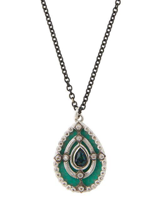 Armenta - Metallic New World Mosaic Pear Pendant Necklace - Lyst