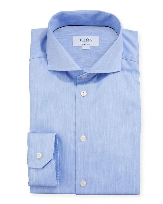 Eton of Sweden Blue Space-dye Super Slim-fit Dress Shirt for men