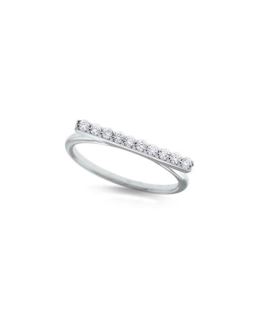 KC Designs - 14k White Gold Diamond Bar Stacking Ring - Lyst