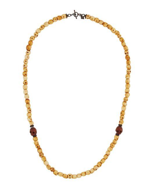 Armenta | Metallic Long Bone Skull & Spinel Beaded Necklace | Lyst