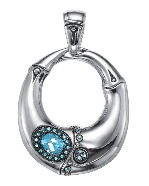 John Hardy - Blue Bamboo Gemstone Pendant Necklace - Lyst
