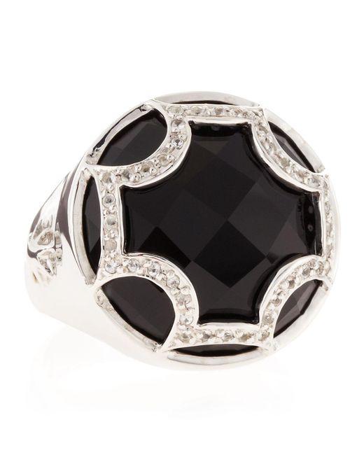 Elizabeth Showers - Black Onyx Maltese Canopy Ring - Lyst