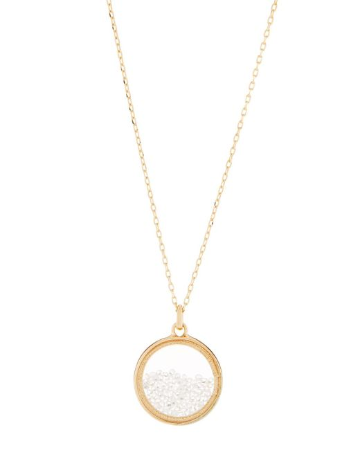 Lydell NYC - Metallic Clear Round Shaker Pendant Necklace - Lyst