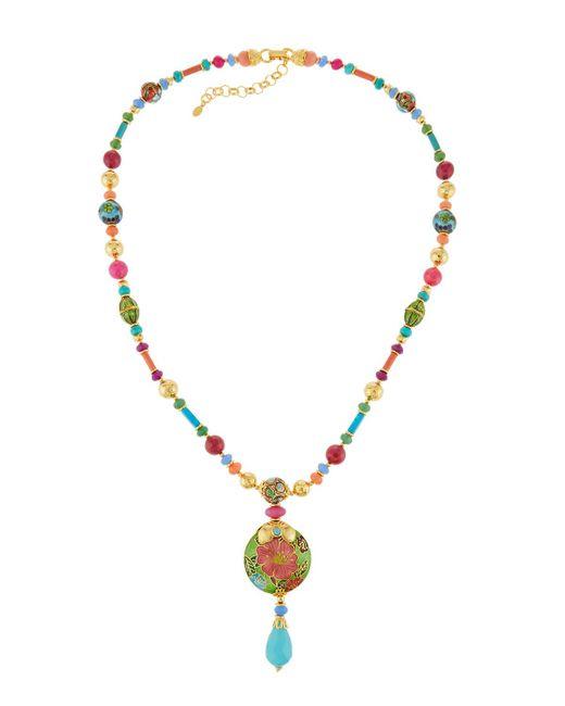 Jose & Maria Barrera - Multicolor Long Bright Cloisonne Y-drop Necklace - Lyst
