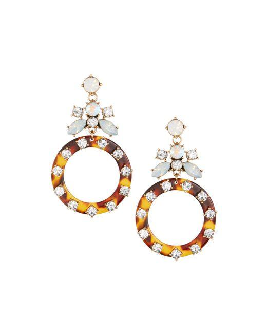 Fragments - Metallic Tortoise Shell Drop Earrings - Lyst