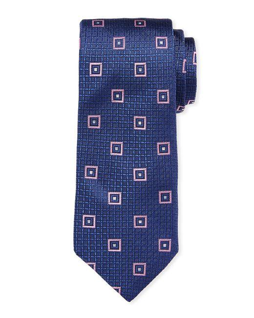 Ike Behar - Blue Square Silk Tie for Men - Lyst