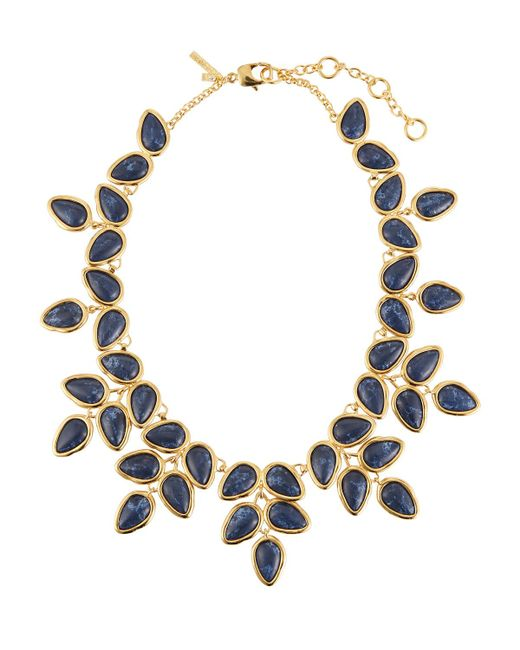 Lele Sadoughi | Blue Palm Leaf Statement Collar Necklace | Lyst