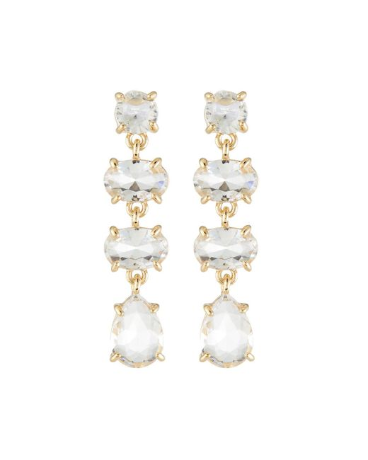 Lydell NYC - Multicolor Crystal Linear Drop Earrings - Lyst