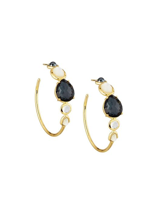 Ippolita | Metallic Rock Candy Gelato 18k #3 Hoop Earrings In Piazza Di Spagna | Lyst
