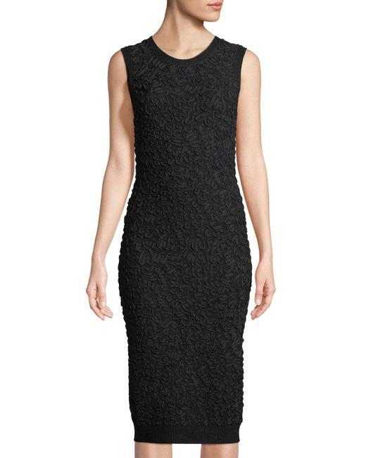 Michael Kors - Black Sleeveless Soutache Sheath Dress - Lyst