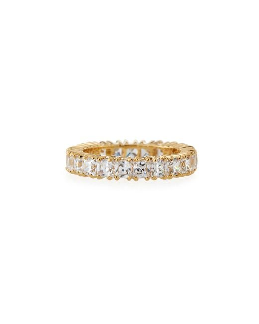 Fantasia by Deserio - Metallic Princess-cut Cubic Zirconia Eternity Band Ring - Lyst