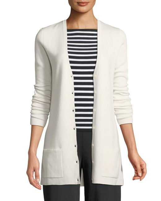 Michael Kors - White Cashmere Button-front Cardigan - Lyst