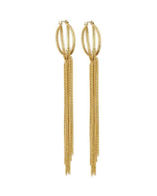 Panacea | Metallic Golden Chain-fringe Hoop Earrings | Lyst