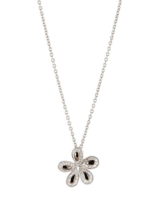 Roberto Coin - Metallic 18k Fantasia Diamond Flower Pendant Necklace - Lyst