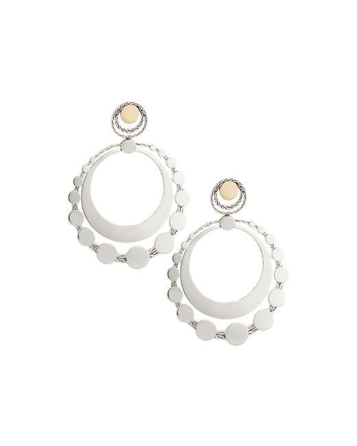 John Hardy | Metallic Dot Deco Large Round Drop Earrings | Lyst