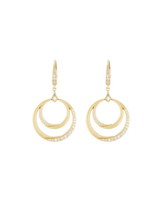 Penny Preville - Metallic 18k Gold Diamond Double Crescent Circle Drop Earrings - Lyst