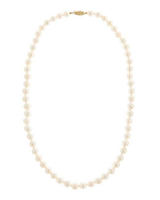 Belpearl 14k Two-Tone Pearl Swirl Necklace cbgh6ONml