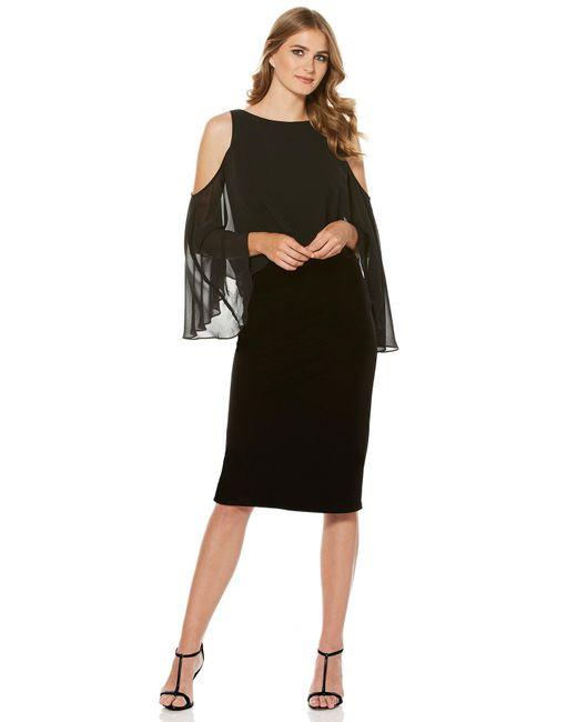 Laundry by Shelli Segal - Black Velvet Midi Dress - Lyst
