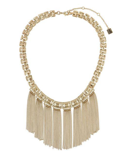 Laundry by Shelli Segal - Metallic Tassel Collar Necklace - Lyst