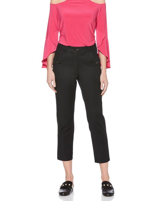 Laundry by Shelli Segal - Black Skinny Pant With Flap Pockets - Lyst