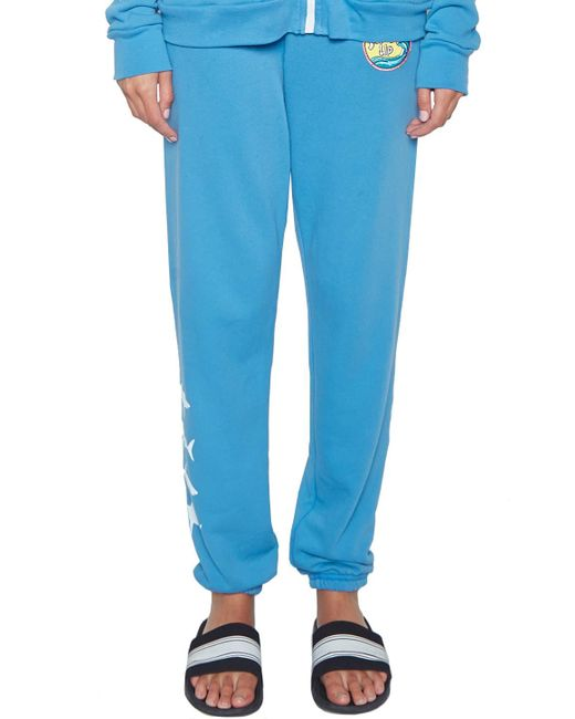 Lauren Moshi | Blue Gia Mini Sharks W/ Surf's Up Patch Long Sweatpant | Lyst