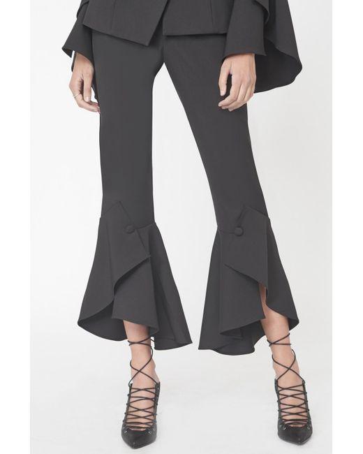 Lavish Alice   Bell Ruffle Tailored Trousers In Black   Lyst