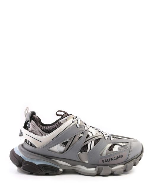 3ffe67ada15a Lyst - Balenciaga Grey And White Track Sneakers in Gray for Men ...