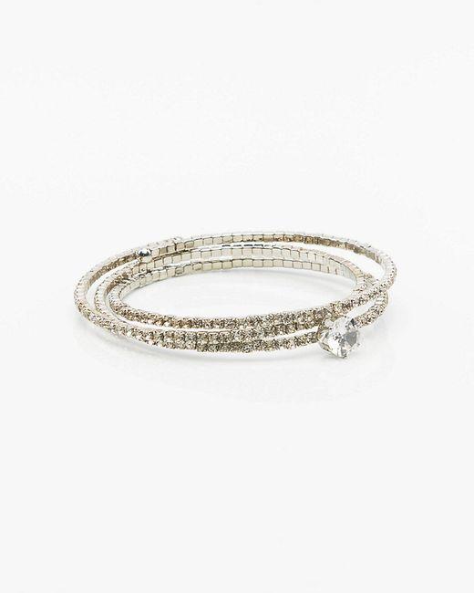 Le Chateau - Metallic Gem Coil Bracelet - Lyst