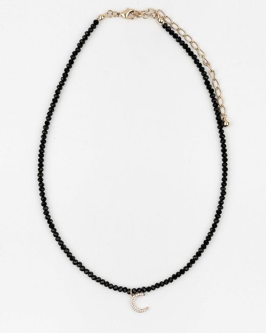 Le Chateau - Metallic Moon Pendant Necklace - Lyst