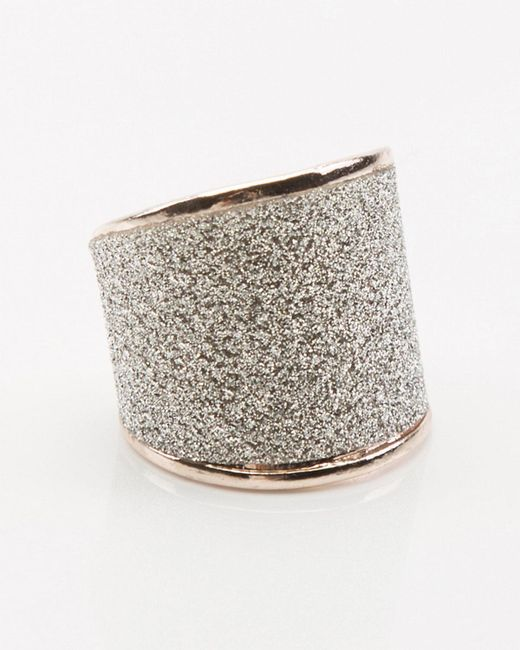 Le Chateau - Metallic Glitter Ring - Lyst