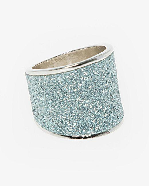 Le Chateau - Blue Glitter Ring - Lyst